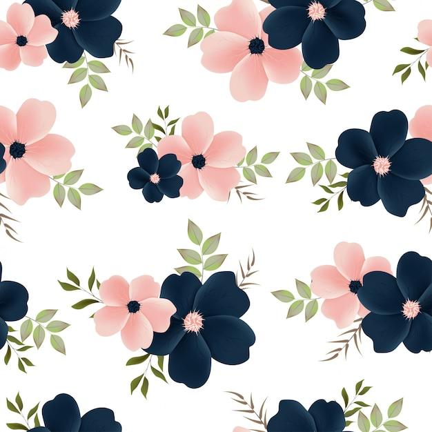 Mooi bloemen naadloos patroon Premium Vector