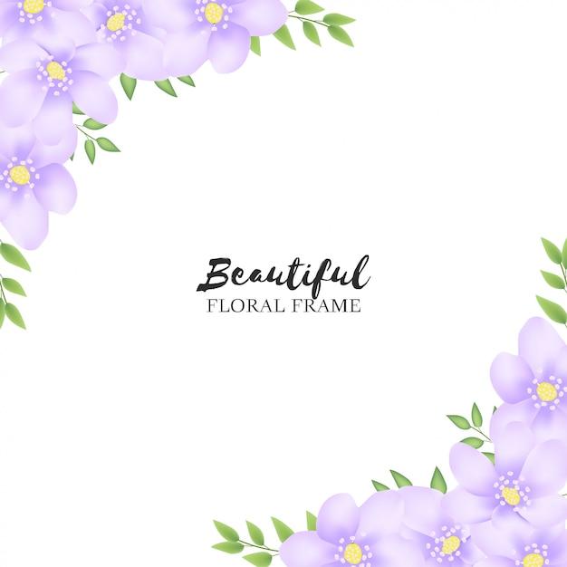 Mooi bloemenframe voor groetkaart Premium Vector