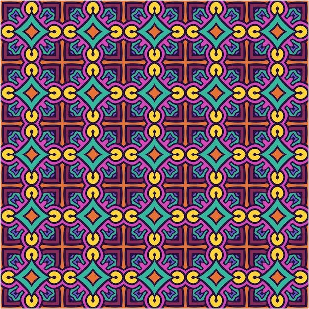 Mooi naadloos patroon met abstracte stijl Premium Vector