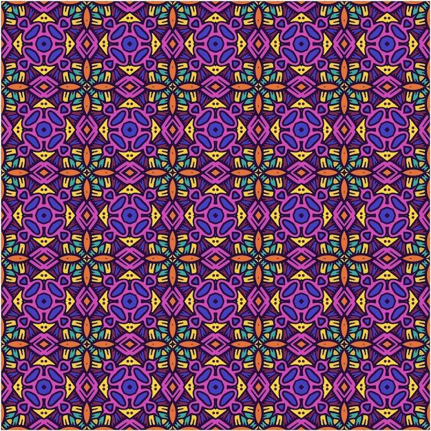 Mooi naadloos patroon met etnische stijl Premium Vector