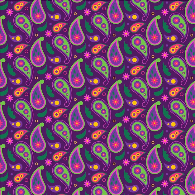 Mooi paisley traditioneel naadloos patroon Gratis Vector