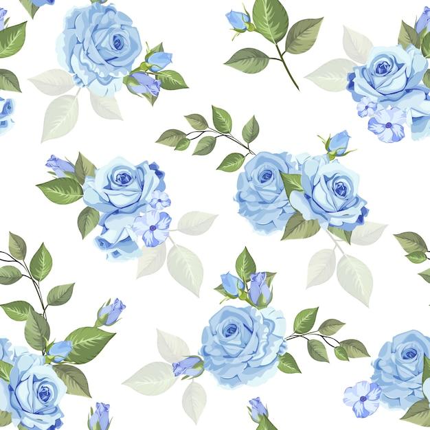 Mooi roos naadloos patroon voor behang Premium Vector