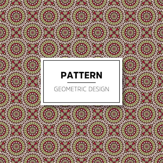 Mooi van het mandala naadloos patroon ontwerp als achtergrond Gratis Vector