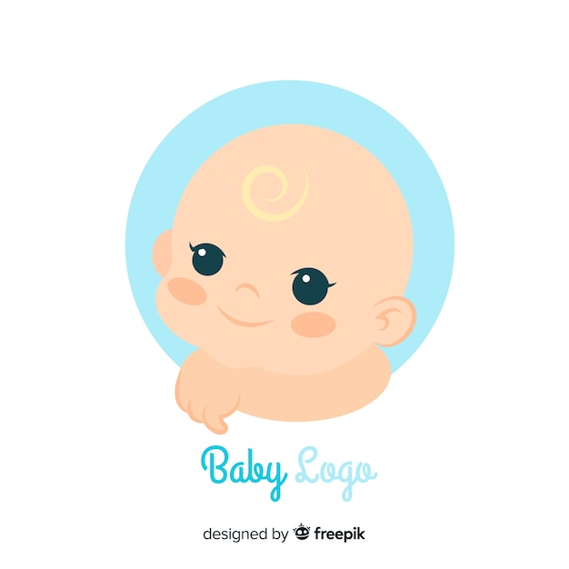 Mooie baby winkel logo sjabloon Gratis Vector