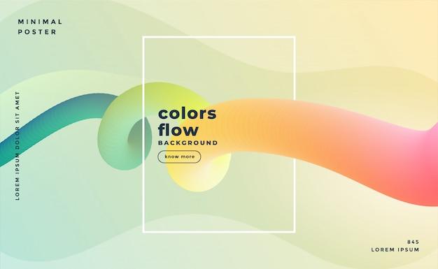 Mooie banner van kleurrijke vloeibare lijnachtergrond Gratis Vector