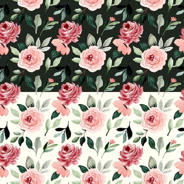 Mooie bloem aquarel naadloze patroon Premium Vector