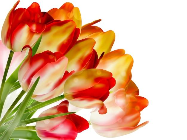 Mooie bloemen gemaakt met kleurfilters. Premium Vector