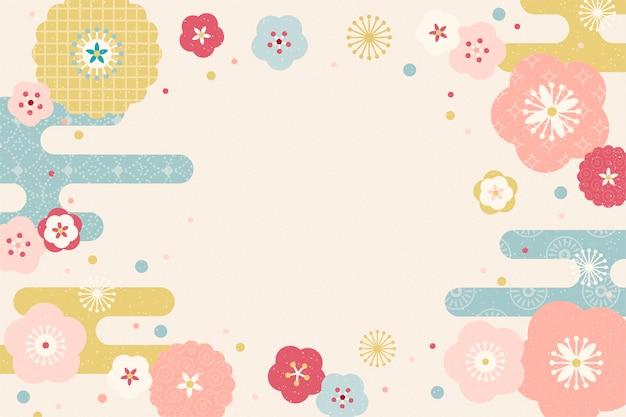 Mooie bloemenachtergrond met exemplaarruimte Premium Vector
