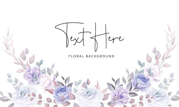 Mooie bloemenachtergrond met zachte paarse bloemen Gratis Vector