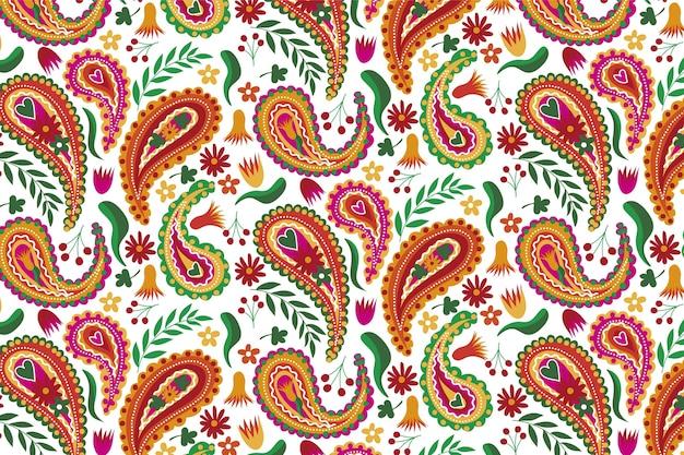 Mooie bruine tinten van het traditionele naadloze patroon van paisley Gratis Vector