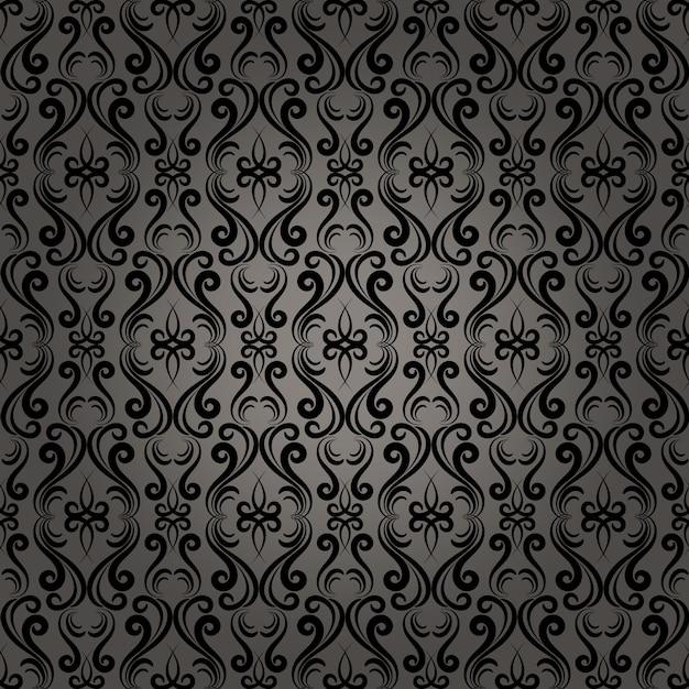 Mooie damast barokke naadloze patroon achtergrond voor behang in webpagina's Gratis Vector