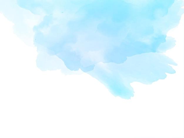Mooie elegante blauwe aquarel textuur achtergrond Gratis Vector