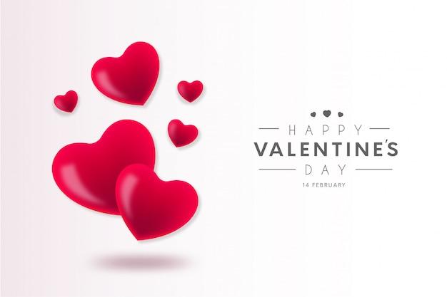 Mooie gelukkige valentijnsdag achtergrond Gratis Vector