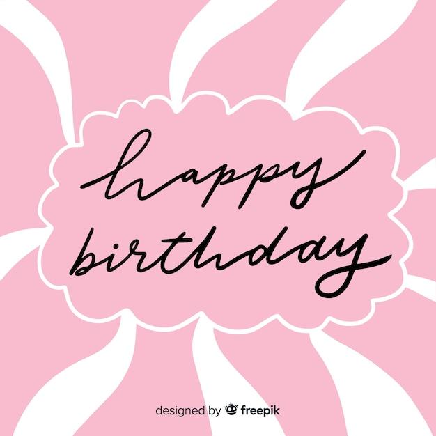 Mooie gelukkige verjaardag belettering Gratis Vector