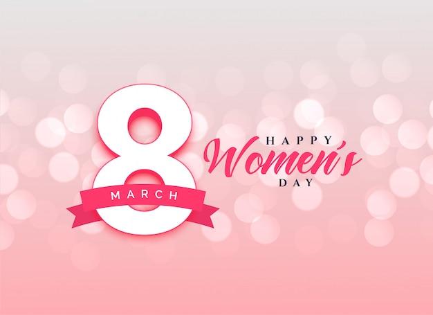 Mooie gelukkige vrouwen dag viering kaart ontwerp achtergrond Gratis Vector