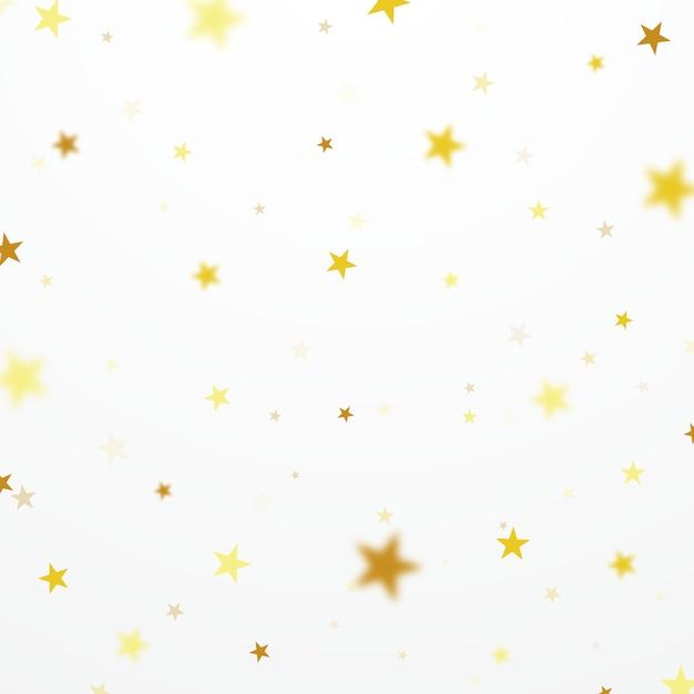 Mooie gouden sterachtergrond geschikt voor het verfraaien van diverse vieringen Premium Vector