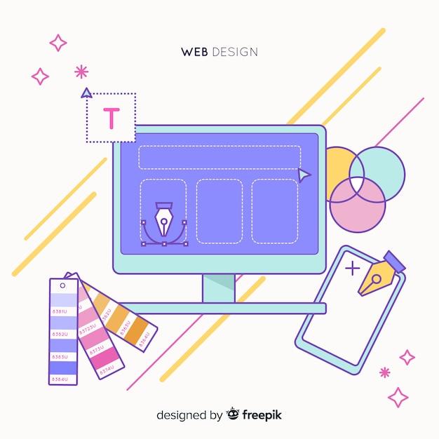 Mooie hand getrokken web ontwerpconcept Gratis Vector
