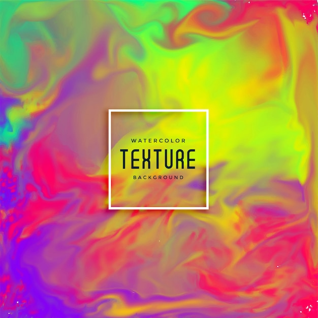 Mooie inkt stroomt aquarel textuur Gratis Vector