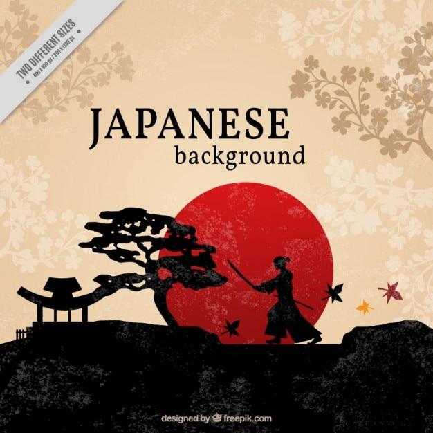 Mooie japanse achtergrond Gratis Vector
