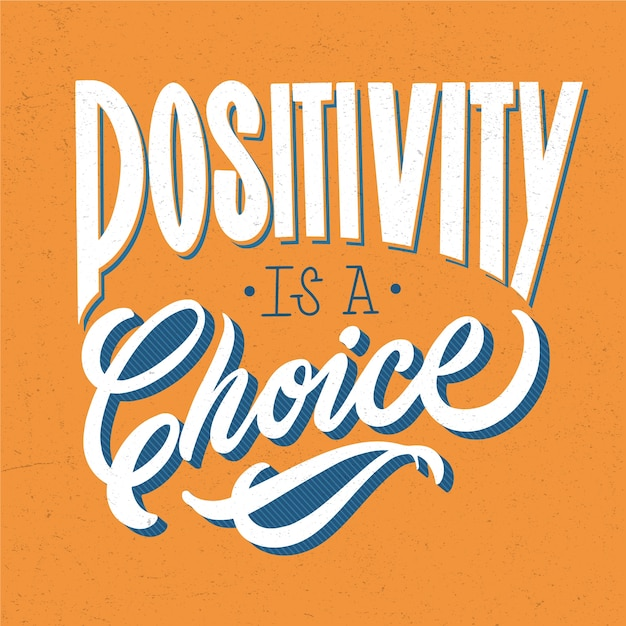 Mooie kleurrijke positieve letters Gratis Vector