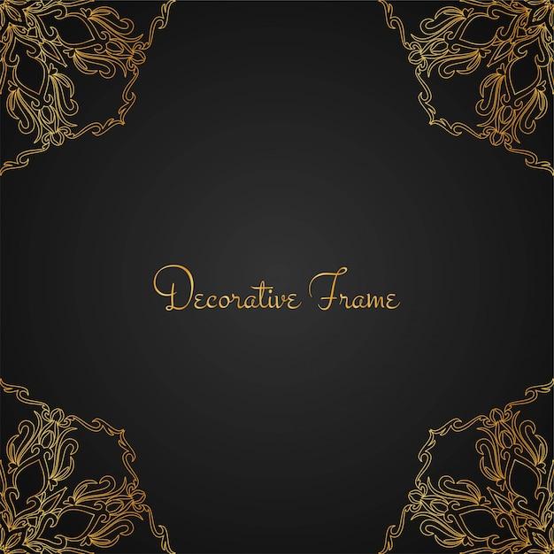 Mooie luxe gouden frame achtergrond Gratis Vector