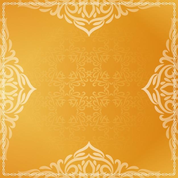 Mooie luxe heldere gele decoratieve achtergrond Gratis Vector