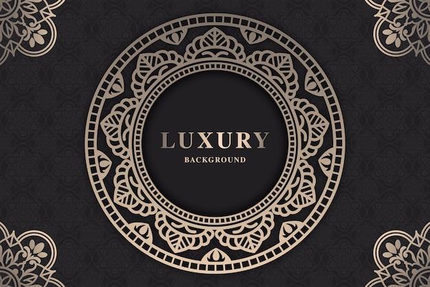Mooie luxe mandala-screensaver Gratis Vector