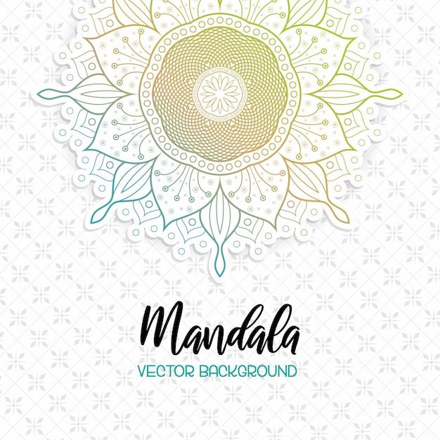 Mooie mandala witte achtergrond Premium Vector