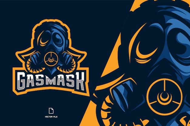 Mooie masker mascotte logo illustratie Premium Vector
