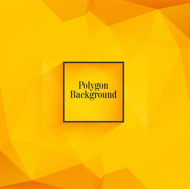Mooie oranje veelhoek achtergrond vector Gratis Vector