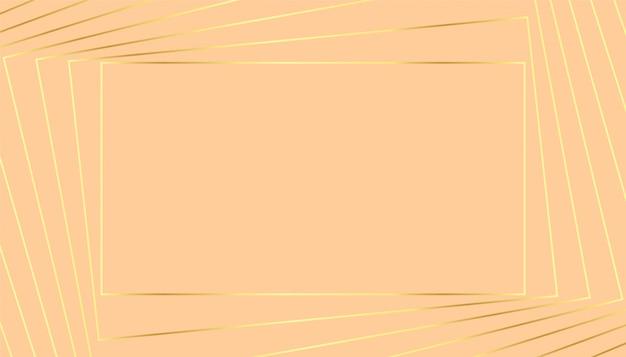 Mooie pastel achtergrond met gouden geometrische lijnen Gratis Vector