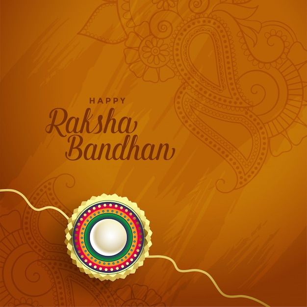 Mooie rakha bandhan indische festivalkaart Gratis Vector