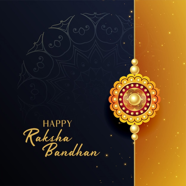 Mooie raksha bandhan festival groet achtergrond Gratis Vector
