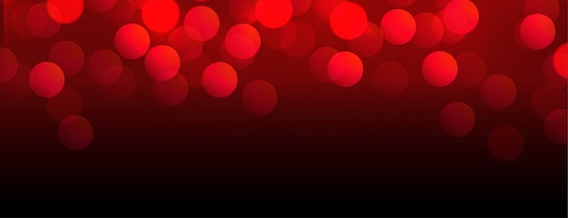 Mooie rode bokehbanner met tekstruimte Gratis Vector
