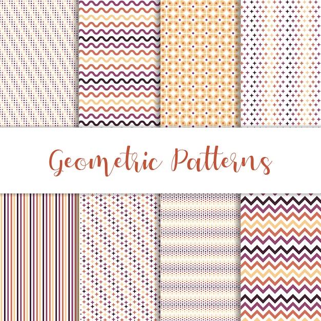 Mooie set van geometrische patronen Gratis Vector