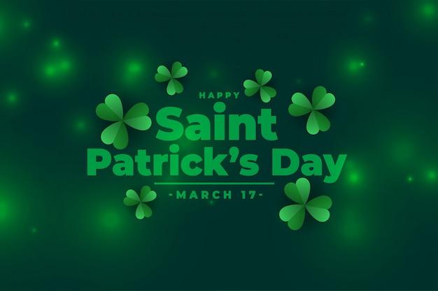 Mooie st patricks dag groene banner Gratis Vector
