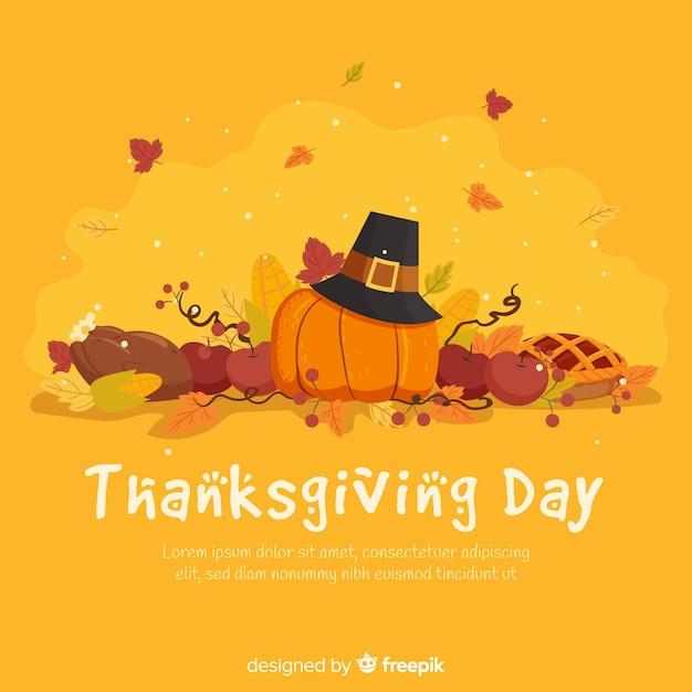 Mooie thanksgiving achtergrond Gratis Vector