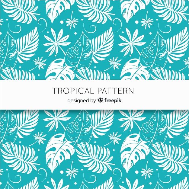 Mooie tropische achtergrond Gratis Vector