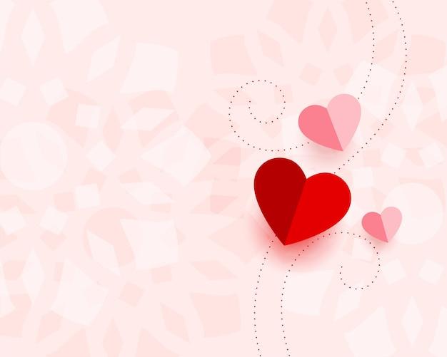 Mooie valentijnsdag kaart met tekstruimte Gratis Vector