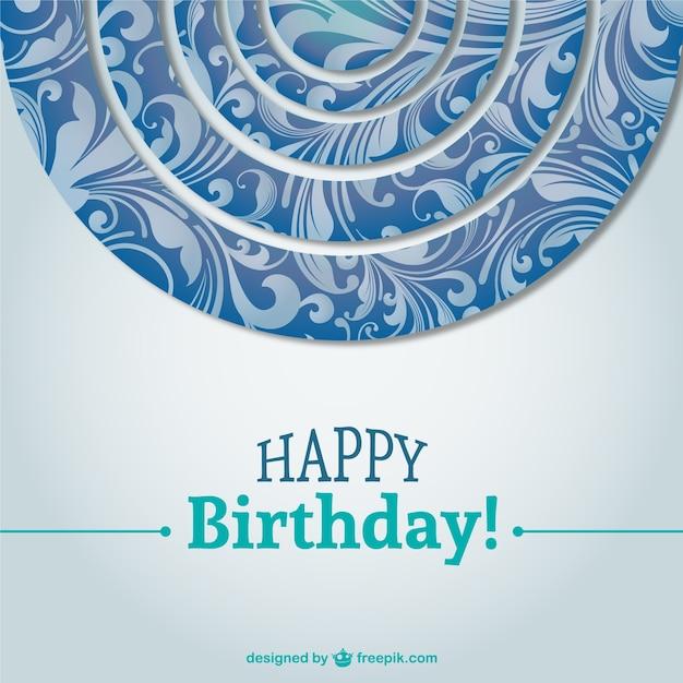 mooie verjaardagskaart achtergrond vector vector gratis download