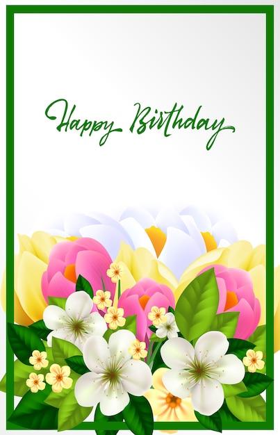 mooie verjaardagskaart vector gratis download