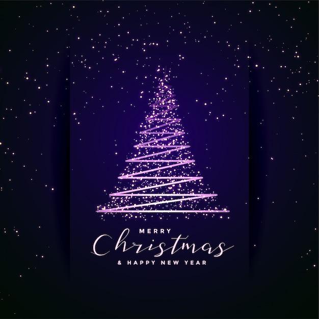 Mooie vrolijke creatieve boom van het kerstmisfestival Gratis Vector