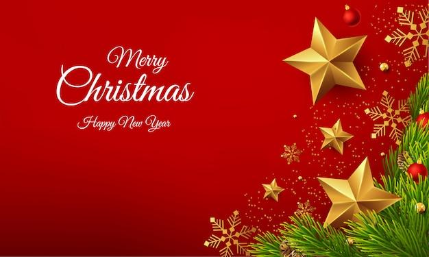 Mooie vrolijke de groetvector van het kerstmis gelukkige nieuwe jaar Premium Vector
