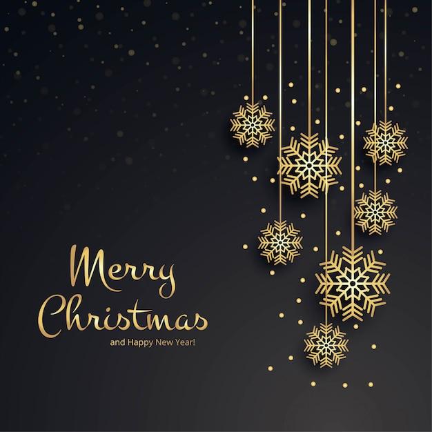 Mooie vrolijke de kaartachtergrond van de kerstmissneeuwvlok Premium Vector