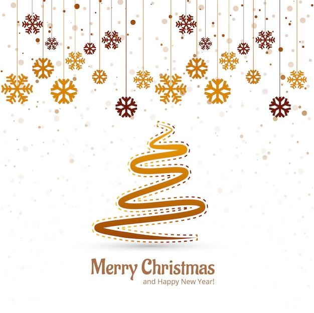 Mooie vrolijke het festival van de kerstboomfestival vector Gratis Vector