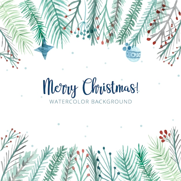 Mooie vrolijke kerstmisachtergrond Gratis Vector