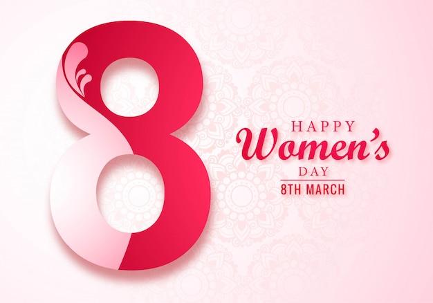 Mooie vrouwendag kaart Gratis Vector