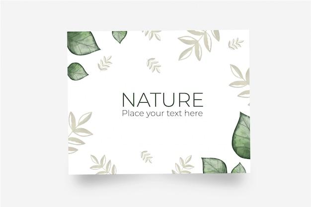 Mooie wenskaart gemaakt met natuurlijke bladeren Gratis Vector