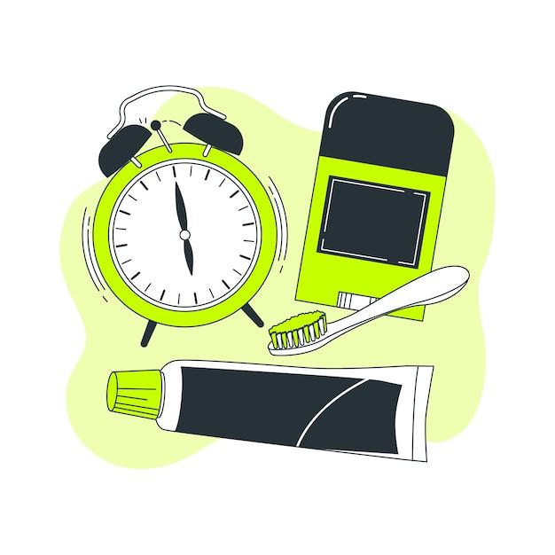 Morning essentials concept illustratie Gratis Vector