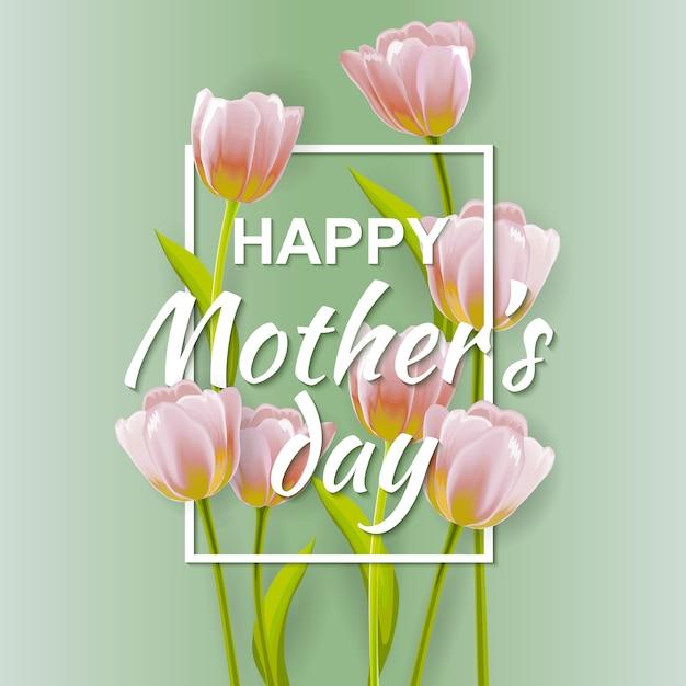 Mother's Day achtergrond ontwerp Premium Vector